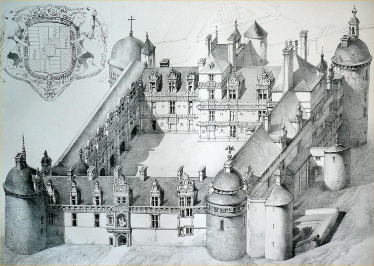 Château d'Assier au XVIIe siècle