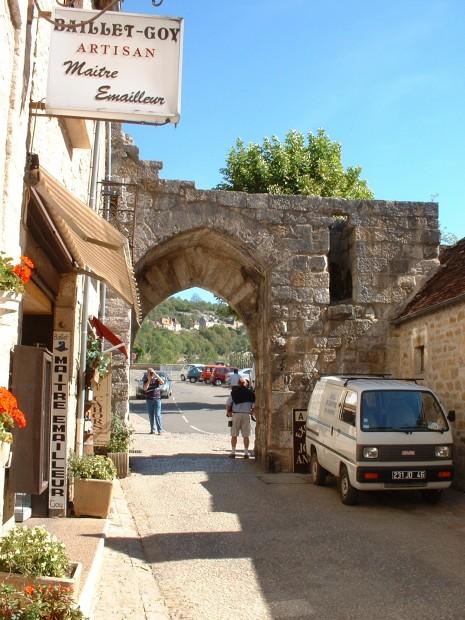 Rocamadour. Porte du Figuier - Vue Intérieure - Auteur : Yann LESELLIER