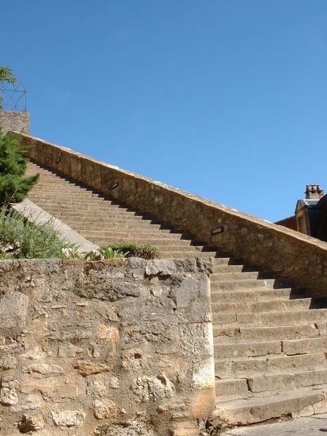 Rocamadour. Bas du Grand Escalier - Auteur : Yann LESELLIER