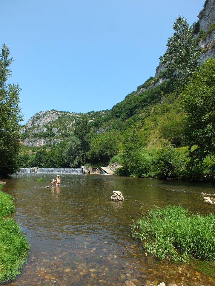 Point de baignade à Marcilhac-sur-Célé dans le Lot