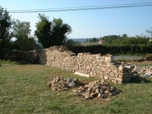 Positionnement des pierres de couronnement