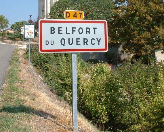 Panneau du Village de Belfort-du-Quercy