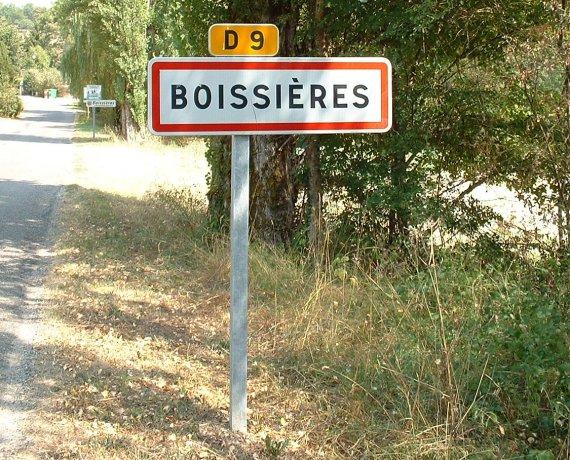 Panneau du village de Boissières
