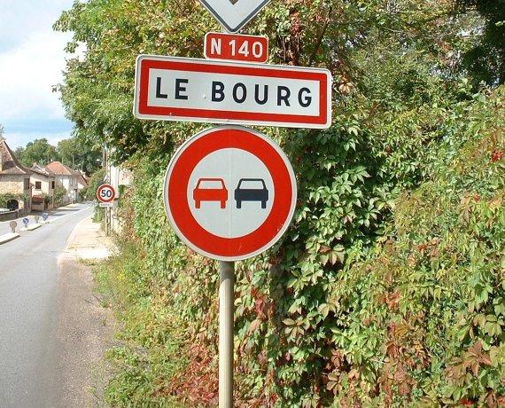 Panneau du village du Bourg