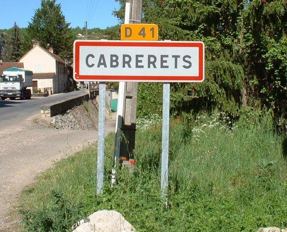 Panneau du village de Cabrerets