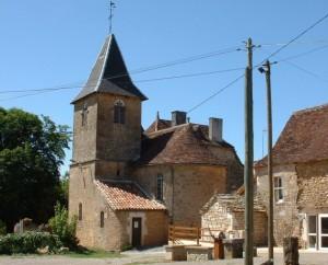 L'église d'Albiac dans le Lot