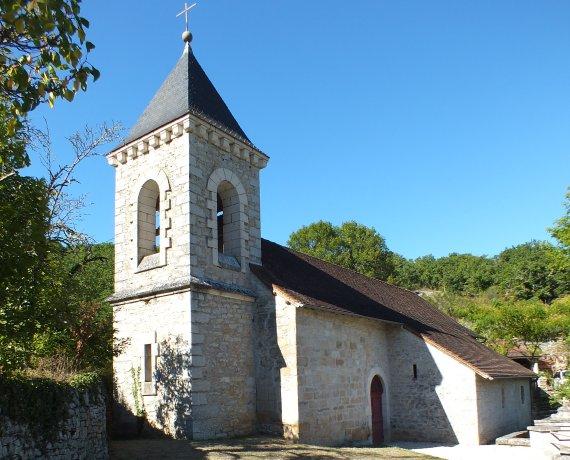 Église Saint-Barthélémy à Cadrieu dans le Lot