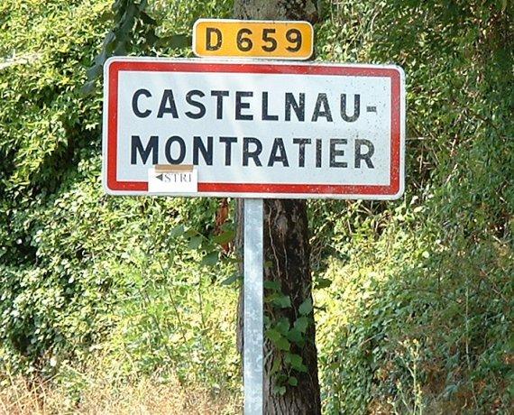 Panneau du village de Castelnau-Montratier
