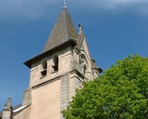 Église du bourg de Felzins dans le Lot
