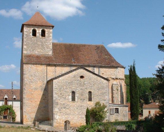 Église Saint-Jean-Baptiste à Sabadel-Lauzès dans le Lot