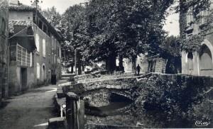 Ancien canal des 3 moulins à Figeac (Rue du Faubourg du Pin) dans le Lot