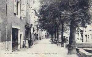 Ancien canal des 3 moulins à Figeac (Faubourg du Pin) dans le Lot