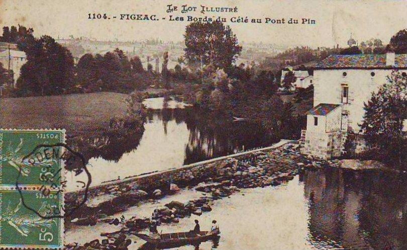 Les bords du Célé au Pont du Pin à Figeac dans le Lot