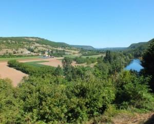 Point de vue sur la vallée du Lot depuis Camboulan en Aveyron