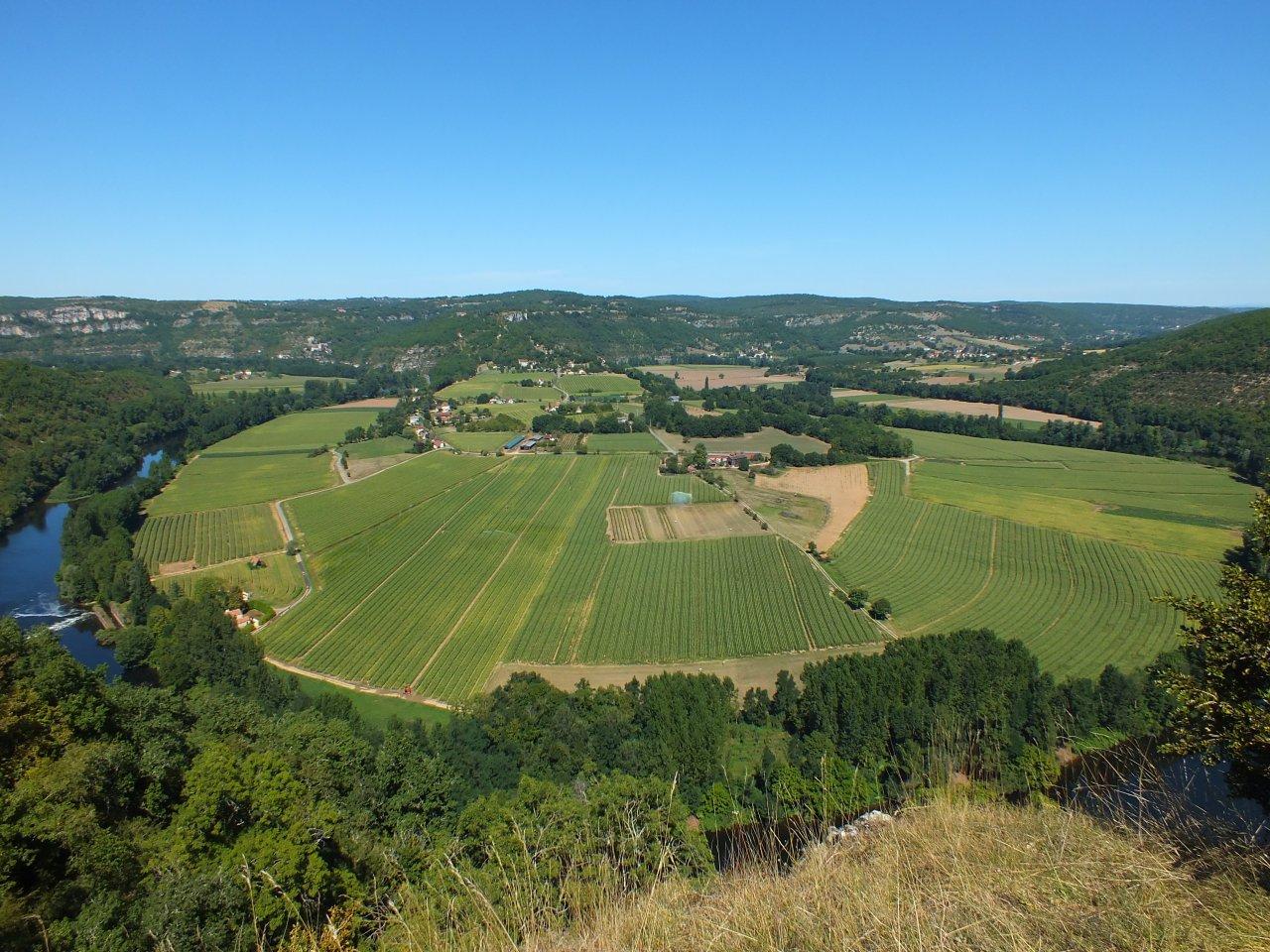 Le cingle de Caillac à Montbrun dans le Lot