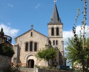 Église Saint-Blaise à Espédaillac (bourg) dans le Lot