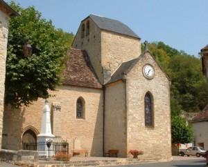 Église Saint-Clair à Saint Clair (bourg) dans le Lot