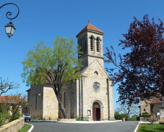 Église Saint-Jean-Baptiste à Saint-Jean-Mirabel (bourg) dans le Lot