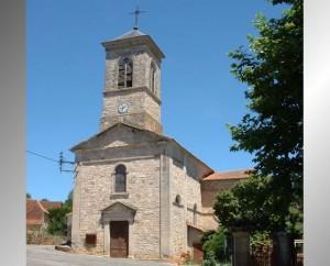 Église de Thémines (bourg) dans le Lot