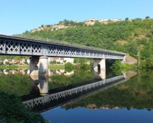 Pont ferroviaire à Capdenac (port) dans le Lot