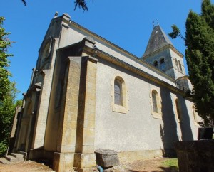 Église Notre-Dame-de-Ginolhac à Cazals (bourg) dans le Lot