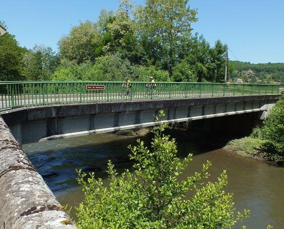 Pont de Merlançon à Figeac dans le Lot