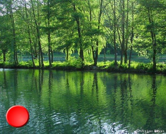 La lac vert à Catus dans le Lot