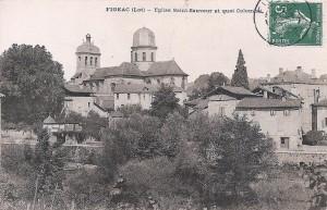 L'église Saint-Sauveur à Figeac (rue du Chapitre) dans le Lot