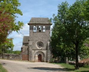 Église Saint-Georges à Laramière dans le Lot