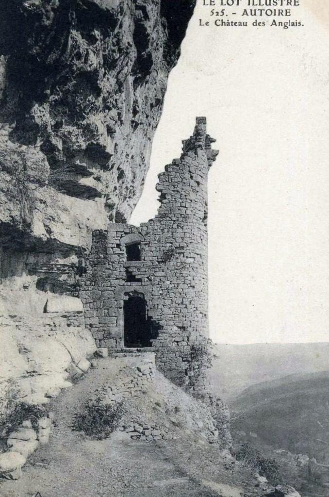 Le château des Anglais à Autoire dans le Lot (Début XXe))