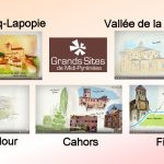VIDEO. Carnets de voyage illustrés avec 5 Grands Sites lotois