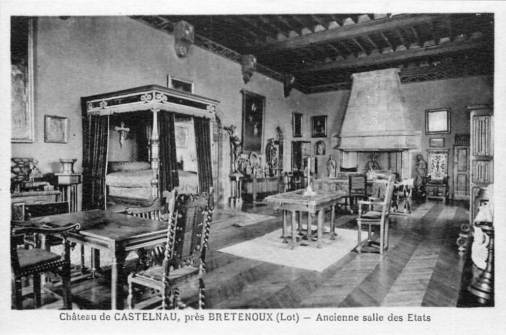 La chambre de Jean Mouliérat au château de Castelnau-Bretenoux