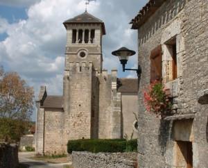 Église Saint-Jean-Baptiste à Aujols (bourg) dans le Lot