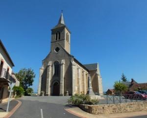 Église du bourg de Béduer dans le Lot