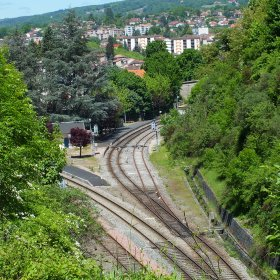 Gare ferroviaire de Figeac dans le Lot (Vue sud)