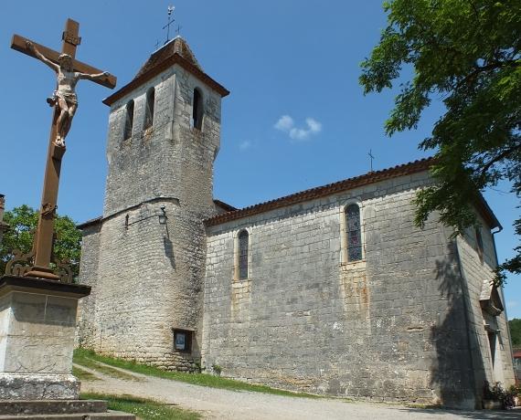 Église Saint-Saturnin à Brengues dans le Lot