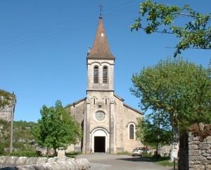 Église de Cabrerets (bourg) dans le Lot