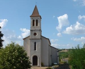 Église d'Esclauzels (bourg) dans le Lot