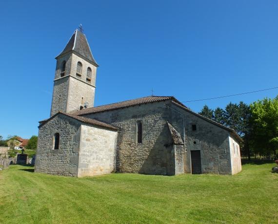 Église de Théminettes (bourg) dans le Lot