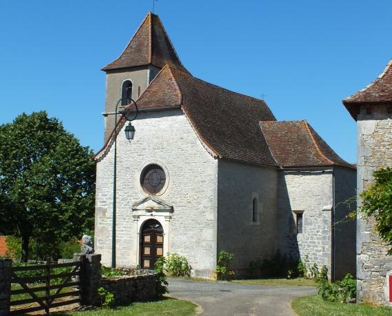 Église Sainte-Anne à Fontanes-du-Causse dans le Lot