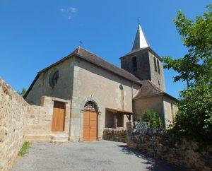 Église Saint-Jean-Baptiste à Frontenac (Côte d'Olt) dans le Lot