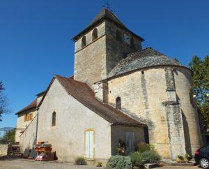 Église Saint-Barthélémy à Gindou (bourg) dans le Lot