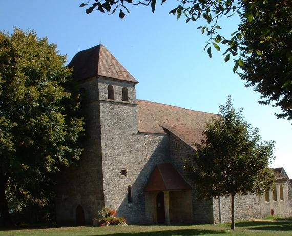 Église Saint-Étienne à Ginouillac