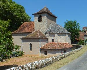 Église Notre Dame de l'Assomption à Gréalou dans le Lot