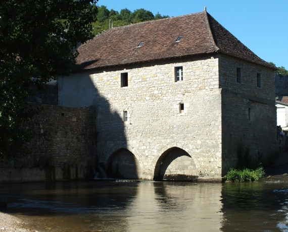 Le moulin du château à Cabrerets dans le Lot
