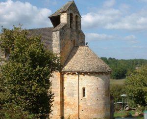 L'église Sainte-Madelaine à Léobard dans le Lot