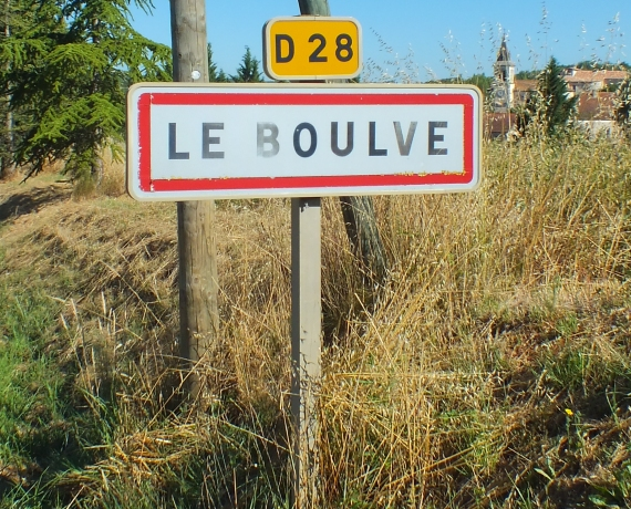 Panneau du village du Boulvé dans le Lot