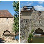 Cabrerets. Le moulin du château dévasté par le feu