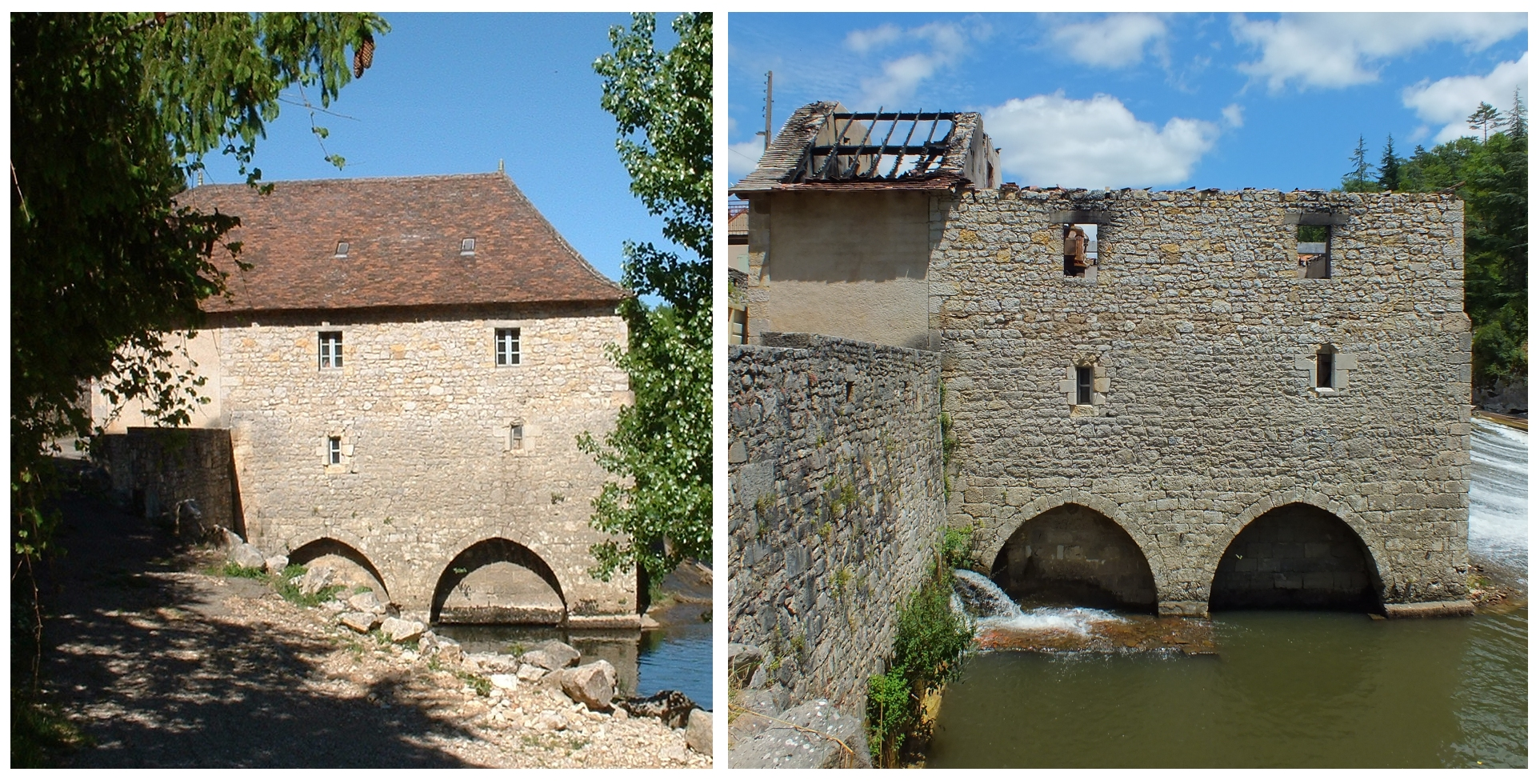Le moulin à eau du château à Cabrerets
