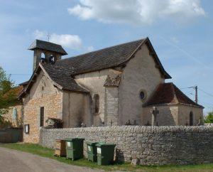 L'église de Puyjourdes (bourg) dans le Lot